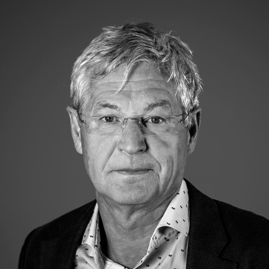 Black and white portrait image of Bjørn Knappskog Board Member, Nordic Aquafarms