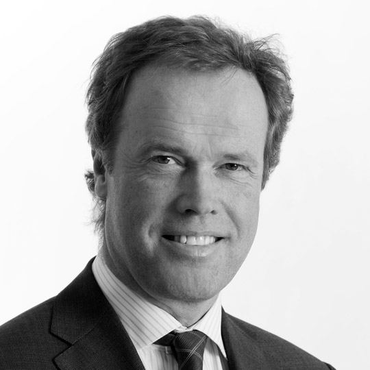 Black and white portrait image of John Binde Board Member, Nordic Aquafarms