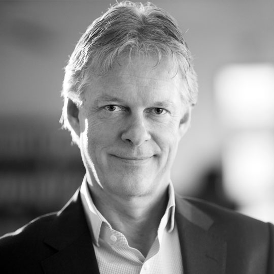 Black and white portrait image of Petter Borg, Board Member, Nordic Aquafarms
